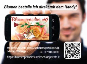 Lade dir jetzt die neue App vom Blumenparadiese herunter und bestelle deine Blumen direkt online und per Handy.